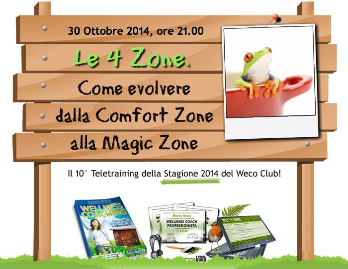 Le 4 Zone. Come evolvere dalla Comfort Zone alla Magic Zone